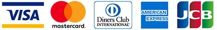 VISA/Master/ダイナーズ/AMEX/JCBのロゴ